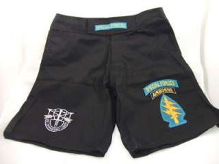FORCES SF COMBATANT MMA PT BLACK BOARD SHORTS FIGHT SHORTS SIZES