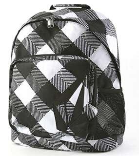 Volcom Com Fusion Black White Plaid Laptop Backpack NWT