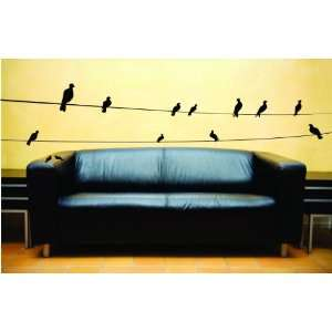 Removable Wall Decals  Birds on Wire