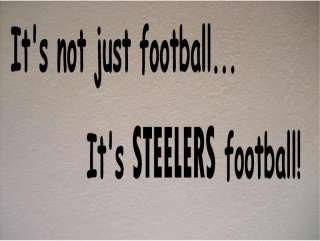 Pittsburgh Steelers Football Vinyl Wall Decal Sticker