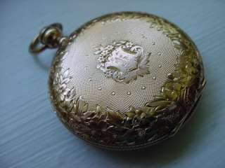 Antique Waltham Bartlett Pocket Watch 18k Gold Key wind