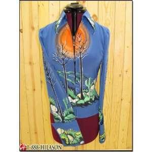 Hilason Hand Painted Showmanship Rail Jacket Shirt Top