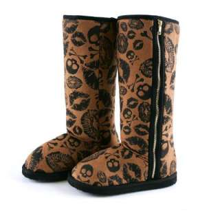 Iron Fist Shoes   Kiss Of Death Lips and Skulls Fug Winter Boots