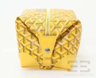 Goyard Yellow Coated Canvas & Leather Boeing 25 Cosmetic Travel Kit