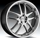 18X8 Advanti Racing Maui 5x110 +40 Mirror Polish Rims Wheels
