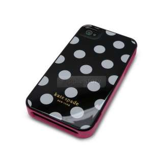 New Kate Spade Hard White Polka Dot Dots Case Cover for iPhone 4 4G 4S