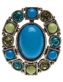 Green and blue bead stretch ring by Lane Bryant  Lane Bryant