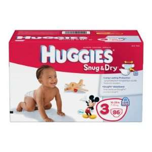 Huggies Snug & Dry Diapers, Size 3   86 ct Baby