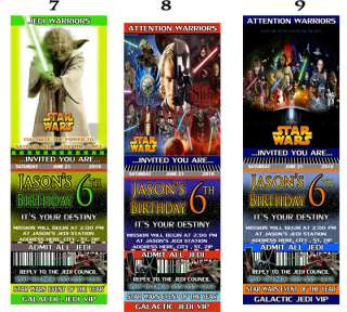 STAR WARS VADER YODA Birthday Party Invitations Favors