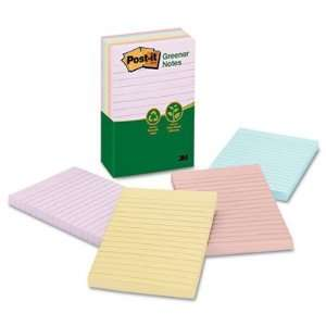 Recycled Assorted Pastel Color Post it Ruled Note Pads   4