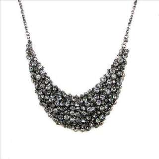 vintage style jet black rhinestone choker necklace, also can be used