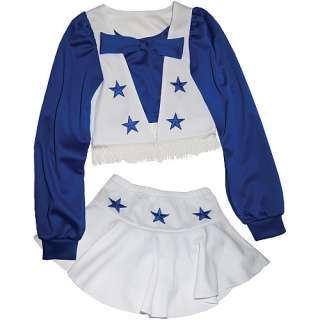 Reebok Dallas Cowboys Girls (6X 12) Authentic Cheer Uniform