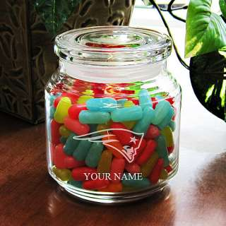 Fan Gifts Boelter New England Patriots Customized 16oz Candy Jar