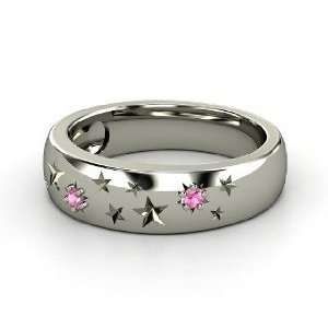 Written in the Stars Ring, Sterling Silver Ring with Pink