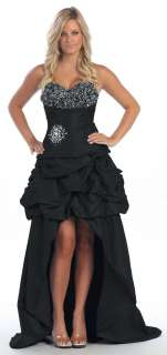 Party/prom 2 in 1 Designer Short/long Wedding Dress #5781 Night Gown