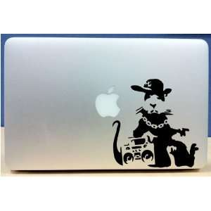 Banksy   Hip Hop Rapper Rat   Vinyl Macbook / Laptop Decal