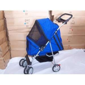 New Pet Stroller Dog Cat Carrier Bed House Blue  Kitchen