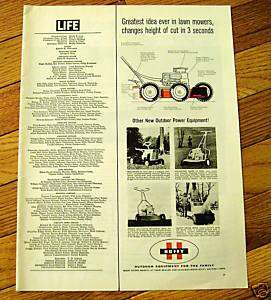 1963 Huffy Lawn Mower Ranchero Tractor Ad