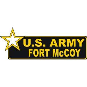 United States Army Fort McCoy Bumper Sticker Decal 6