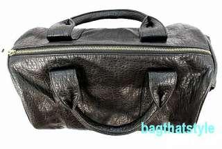 Celebrity Stud Studded Bottom Black Duffel Tote Bag