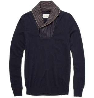 Maison Martin Margiela Wool Blend Shawl Collar Sweater  MR PORTER