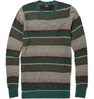 Knitwear  Crew necks  Merino Wool Blend Fair Isle Sweater