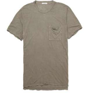 Clothing  T shirts  Crew necks  Loose Fit Cotton T shirt