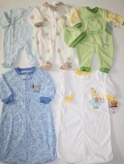 EUC Baby Boy Pajamas Lot Size 0 3 Months Fleece Sacks Winter Sleepers