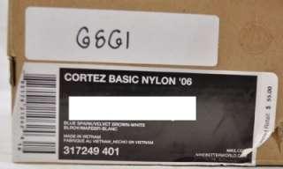 NYLON 06 317249 401 BLUE SPARK VELVET BROWN WHITE 14 (6861)