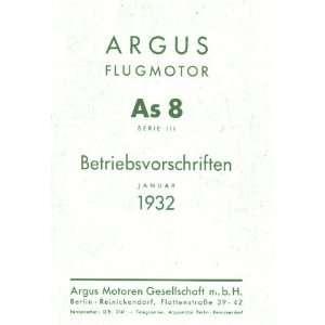 ARGUS As 8 B   Aircraft Engine Technical Manual   1932 Argus
