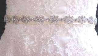 Wedding Bridal Dress Gown Crystal Sash Jeweled Belt