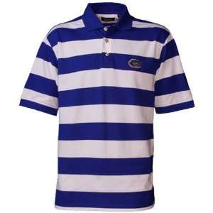 Gators Royal Blue Striped Rugby Micro Pique Polo