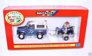 Britains FARM 1:32 LAND ROVER DEFENDER + HONDA ATV MIB!