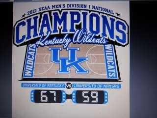 KENTUCKY WILDCATS 2012 NCAA NATIONAL CHAMPION TEE SHIRTS