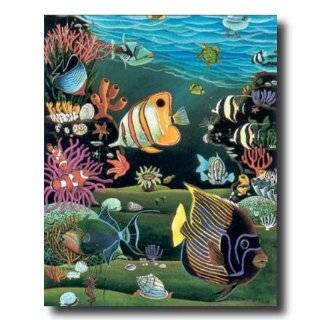 Tropical Ocean Fish Exotic Coral Reef Animal Wildlife Picture Art
