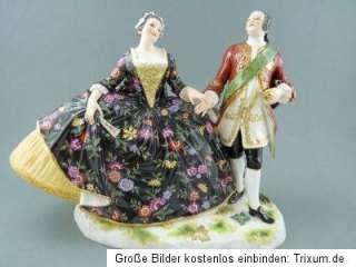 NP12.500€ Figur Liebesgruppe August III. + Maria Josepha Meissen 19