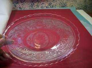 Anchor Hocking Glass Clear Crystal Sandwich Oval Bowl