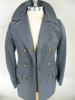 vtg 1940 50s PENNSYLVANIA MILITARY COLLEGE PMC CADET wool PEA COAT sz