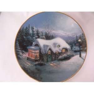 Thomas Kinkade Christmas Plate Collectible ; Silent Night