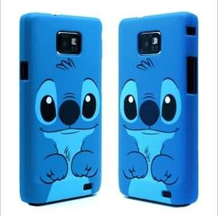 Blue Cute Disney 3D Stitch Hard Case Cover For SAMSUNG GALAXY S2 i9100