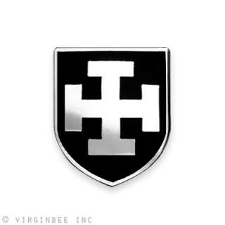 INSIGNIA BLACK SHIELD CRUSADERS ARMY MEDIEVAL TEUTONIC KNIGHTS PIN
