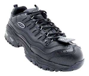 Skechers Work Womens Steel Toe Shoes 2943 Black 6.5 M