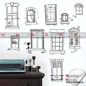 Window Frames removable Vinyl Mural Art Wall Sticker Decal Home