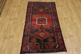 SEMI ANTIQUE TRIBAL RUNNER 4X10 ARDEBIL PERSIAN ORIENTAL AREA RUG