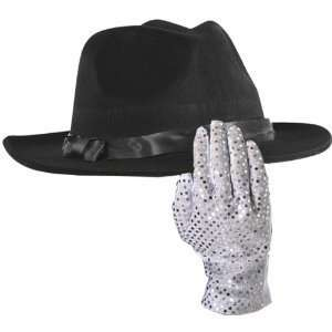 Kids Michael Jackson Hat and Glove Costume Set Toys & Games