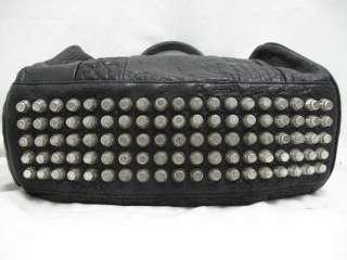 Alexander Wang Black Pebbled Leather Rocco Bag W/ Nickel Hardware