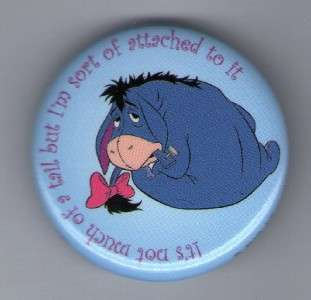 Button Pin Badge Winnie the Pooh Eeyore Tail