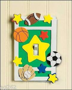 Sports Light Switch Cover Craft Kit for Kids ABCraft