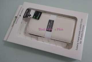 HANDMADE WHITE Melkco Genuine Leather Case for iPhone 4
