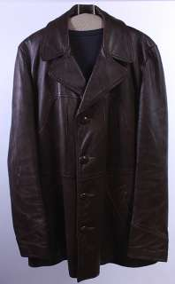 MENS VTG SOFT LEATHER HIPSTER/MOD ROCKER JACKET sz XL